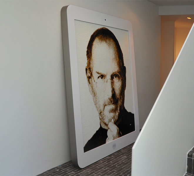 Steve Jobs glasmozaiek portret