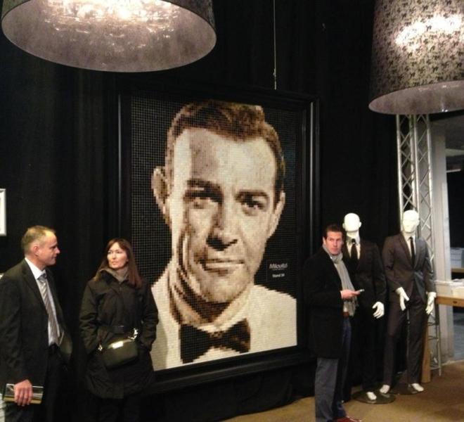007 mosaic glasmozaïek mozaïek James Bond Sean Connery
