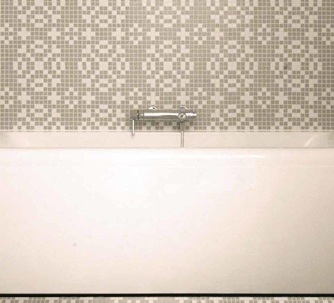 mozaiek vloer patroon grijs wit