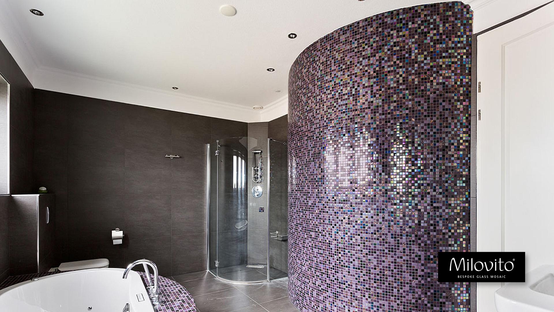 Mozaiek Badkamer Tegels : Unieke badkamers met bespoke glasmozaïek design productie én