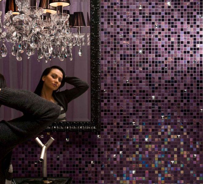 mozaiek tegels paars aubergine