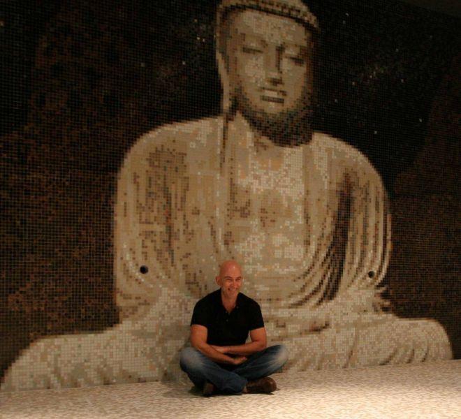 #Boeddha #Buddha #mozaïek | mosaic | tegels | tiles | zwembad | pool | design | privé zwembad | private pool | indoor | zen | wellness | humble | creativiteit | creativity | mozaïekspecialisten | mosaicspecialists | vakwerk | craftsmanship | thuisdecoratie | interiordesign | try us | we try harder