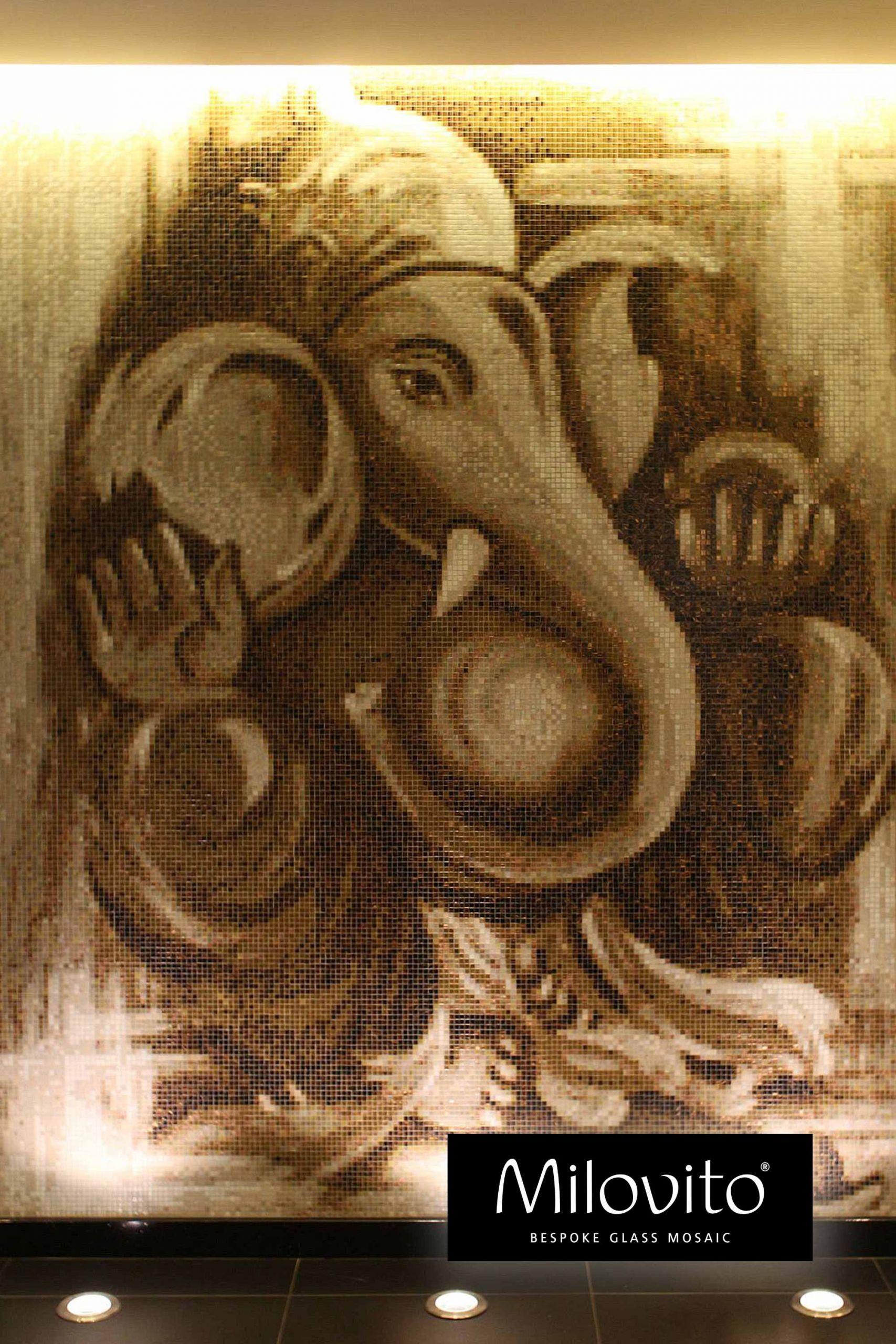#mozaiek #Ganesha #restaurant | Portugal | thuisdecoratie | interieurdesign | tegels | olifant | bespoke | maatwerk | glasmozaïek | fotomozaïek | reizen | verhuizen | ontwerp | design | Hindoeïsme | interiordesign | homeinspiration | interiorlovers | homeinspiration