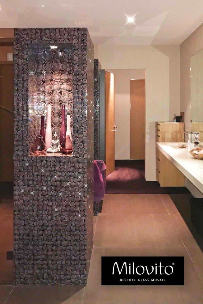 Mozaiek tegels kolom nis Jacinta 10 mm Swarovski Pinterest