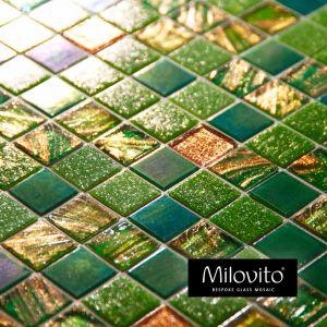 mozaiek tegels groen rose goud