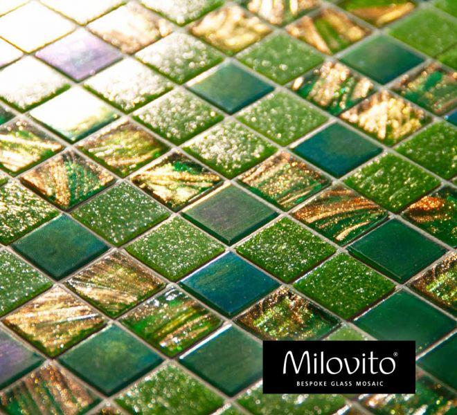 mozaiek tegels groen brons