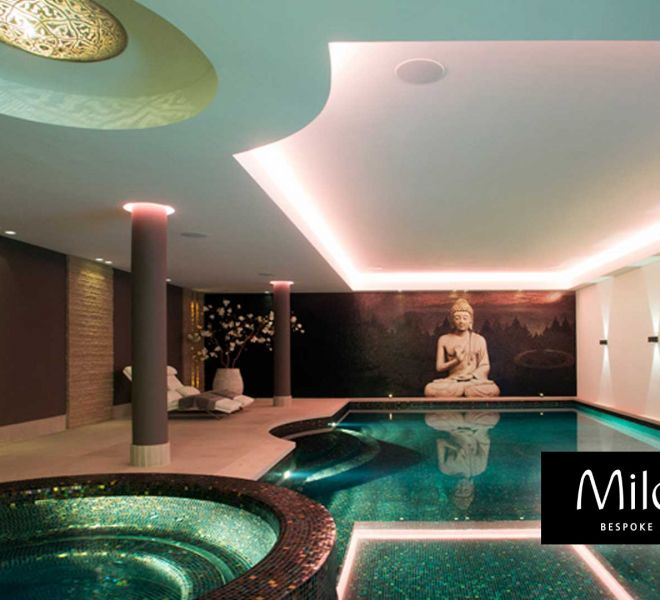 boeddha mozaiek tegels wellness zwembad