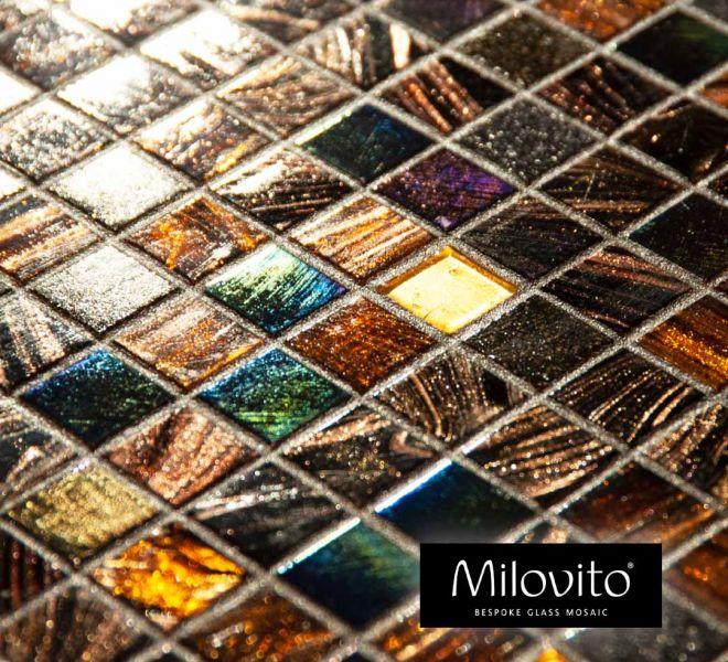 glasmozaiek steentjes brons parelmoer antraciet goud